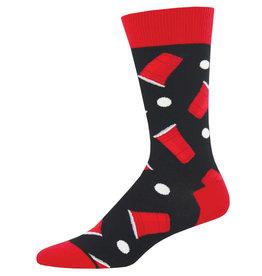 Socksmith Men's Beer Pong Black Socks