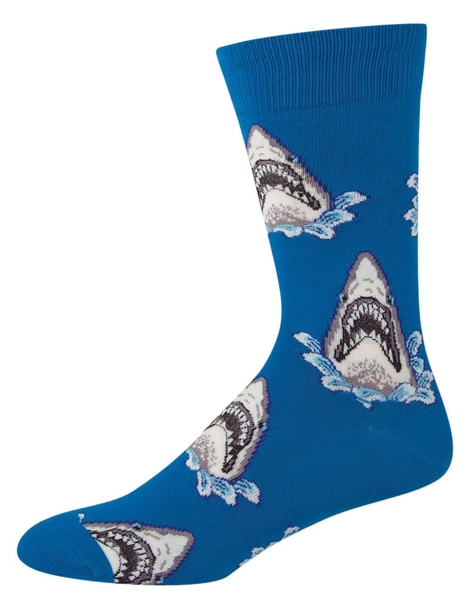 Socksmith Men's Shark Attack Blue Socks