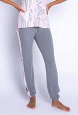 PJ Salvage PJ Salvage Marvelous Marble H. Grey Banded Pant