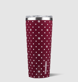 Corkcicle 24 oz Polka Dot Collegiate Tumbler