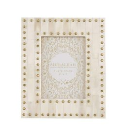 Shiraleah Mansour Ivory Studded 5x7 Gallery Frame