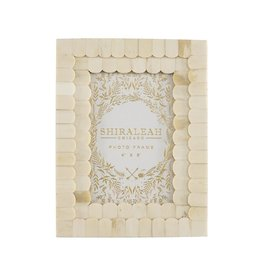 Shiraleah Mansour Scalloped 4x6 Ivory Gallery Frame
