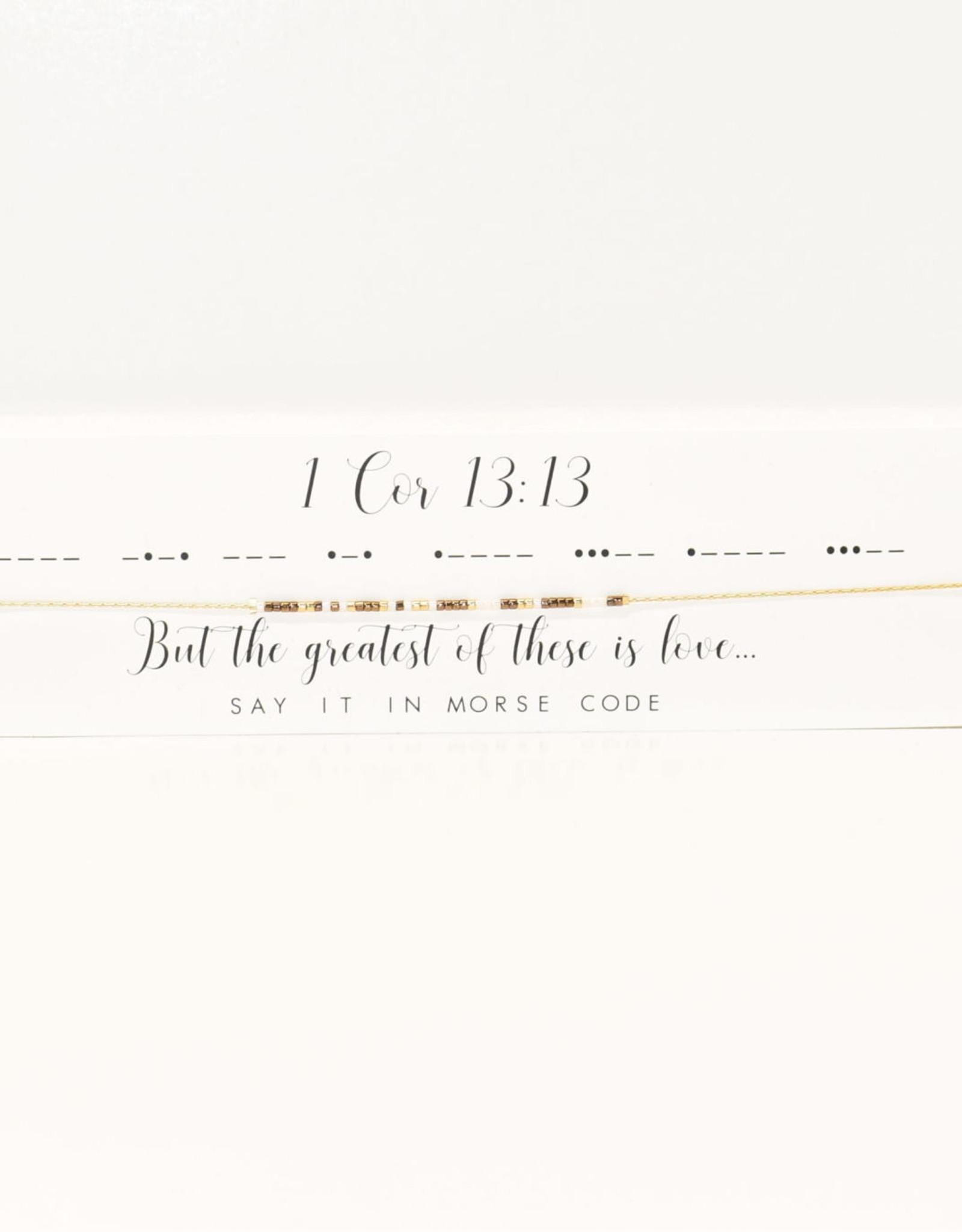Dot & Dash Design Dot & Dash Scripture Necklace - 1 Corinthians