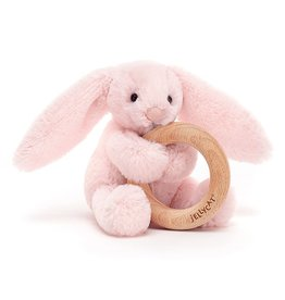 Jellycat Inc. Bashful Bunny Wooden Ring Toy
