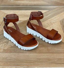 MIA Rina Platform Sandal Cognac