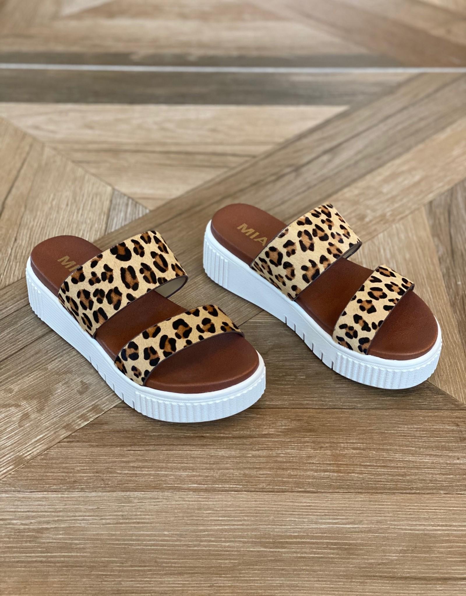 MIA Jordi Platform Sandal Leopard