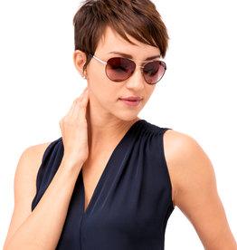 Brighton Helix Choc/Silver Sunglasses
