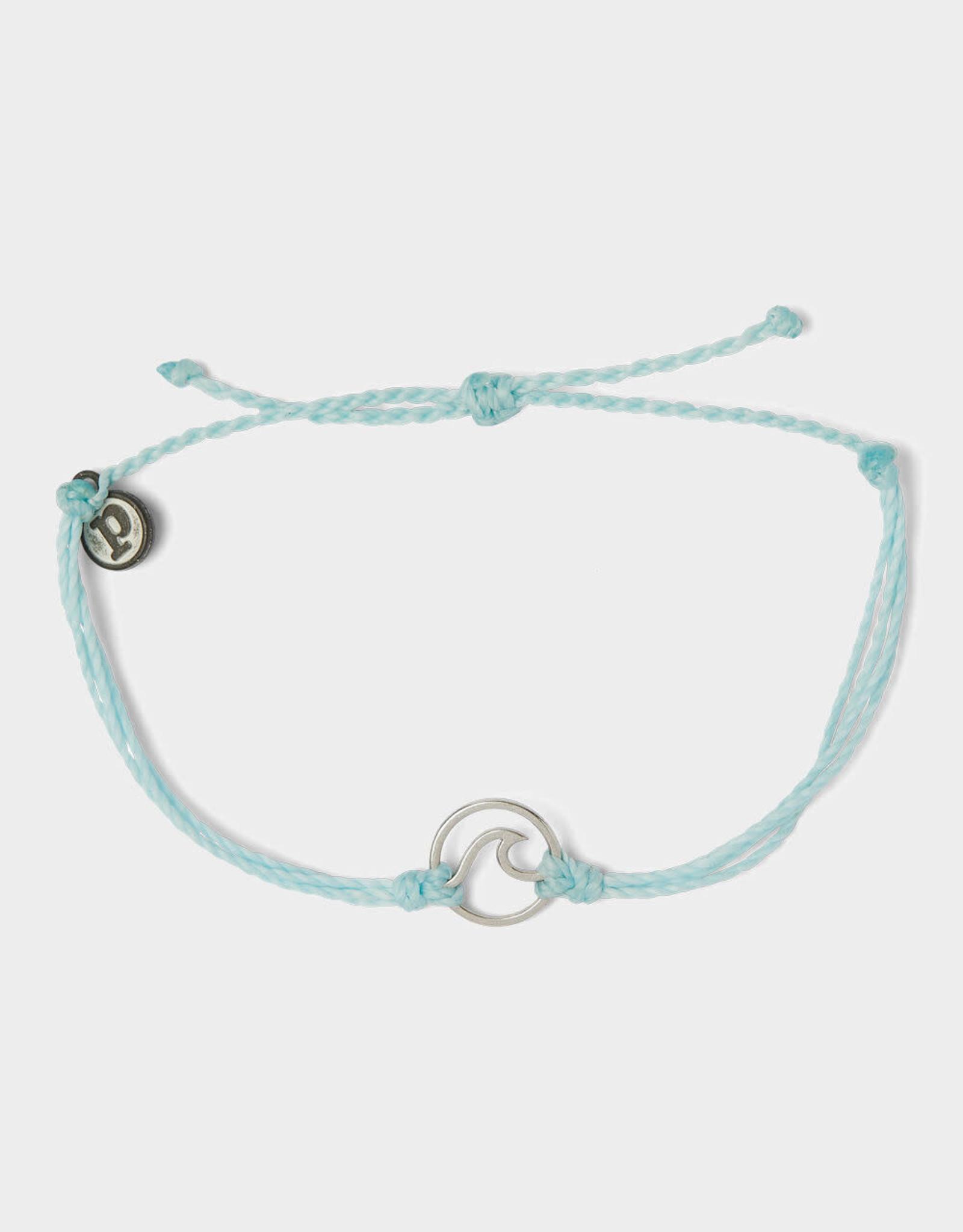Puravida Pura Vida Silver Wave Charm Bracelet Ice Blue