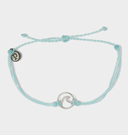 Puravida Silver Wave Charm Bracelet Ice Blue