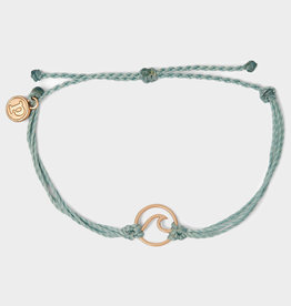 Puravida Rose Gold Wave Charm Bracelet Smoke