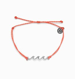 Puravida Delicate Wave Bracelet Silver Strawberry