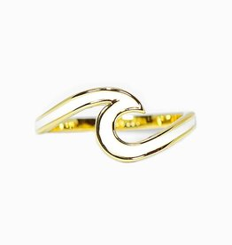 Puravida Enameled Gold Wave Ring