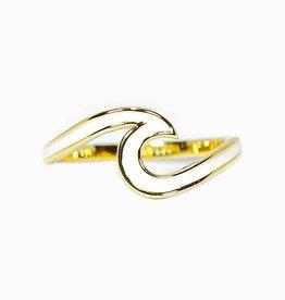 Puravida Enameled Gold Wave Ring