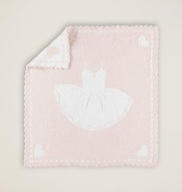 Barefoot Dreams Barefoot Dreams CozyChic Scalloped Receiving Blanket Pink/White TuTu