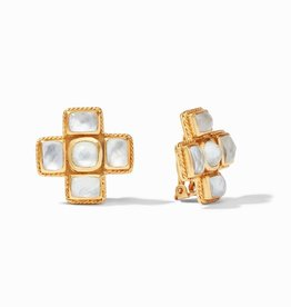Julie Vos Julie Vos Savoy Clip Earring Clear Crystal
