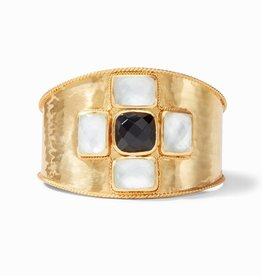 Julie Vos Julie Vos Savoy Cuff Crystal Clear & Obsidian Black