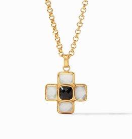 Julie Vos Julie Vos Savoy Pendant Crystal Clear & Obsidian Black