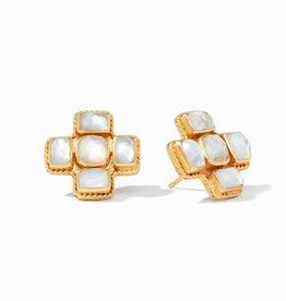Julie Vos Julie Vos Savoy Earring Crystal Clear