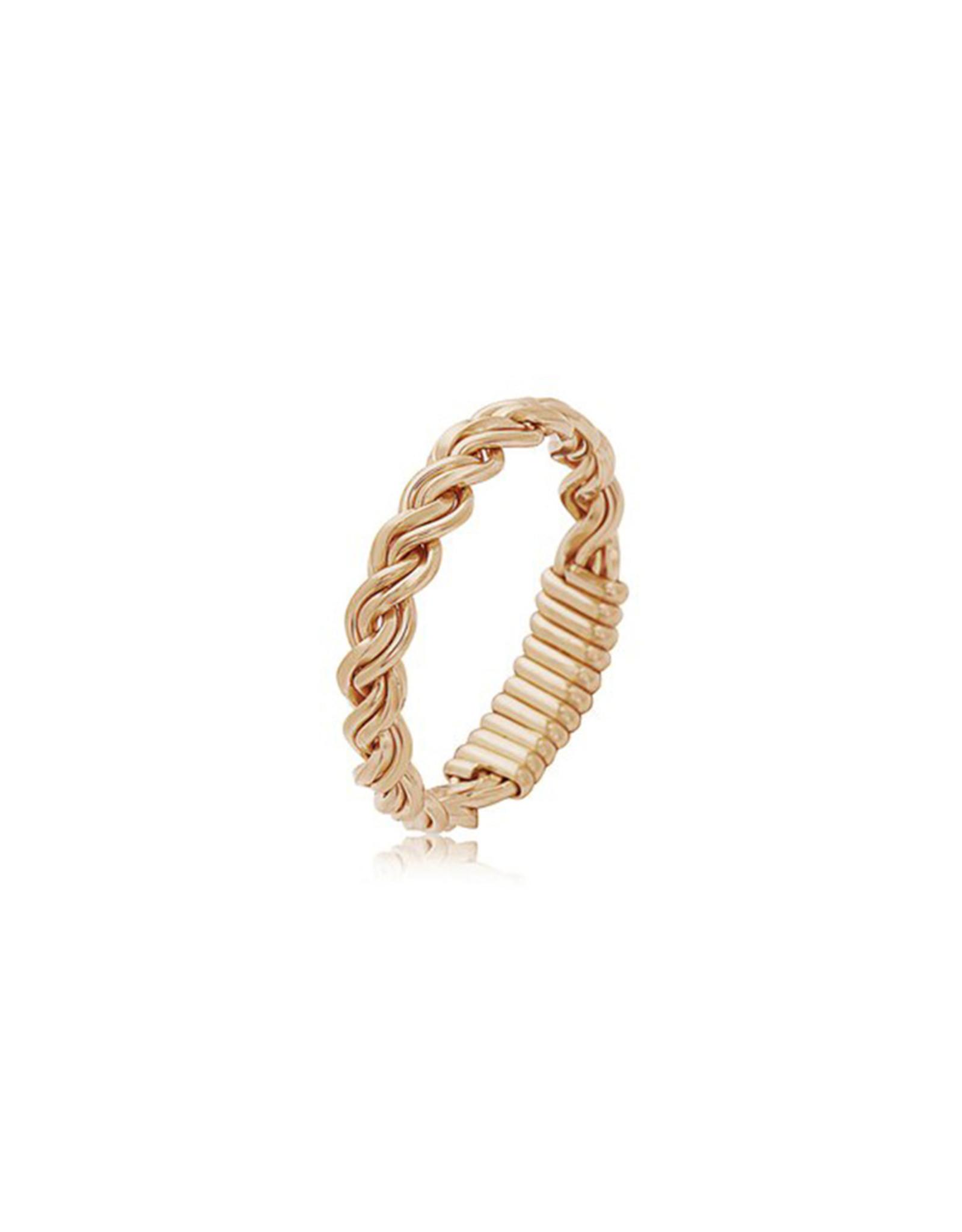 Ronaldo Ronaldo Love Knot Gold Ring