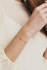 Julie Vos Julie Vos Windsor Delicate Bracelet Gold Pave