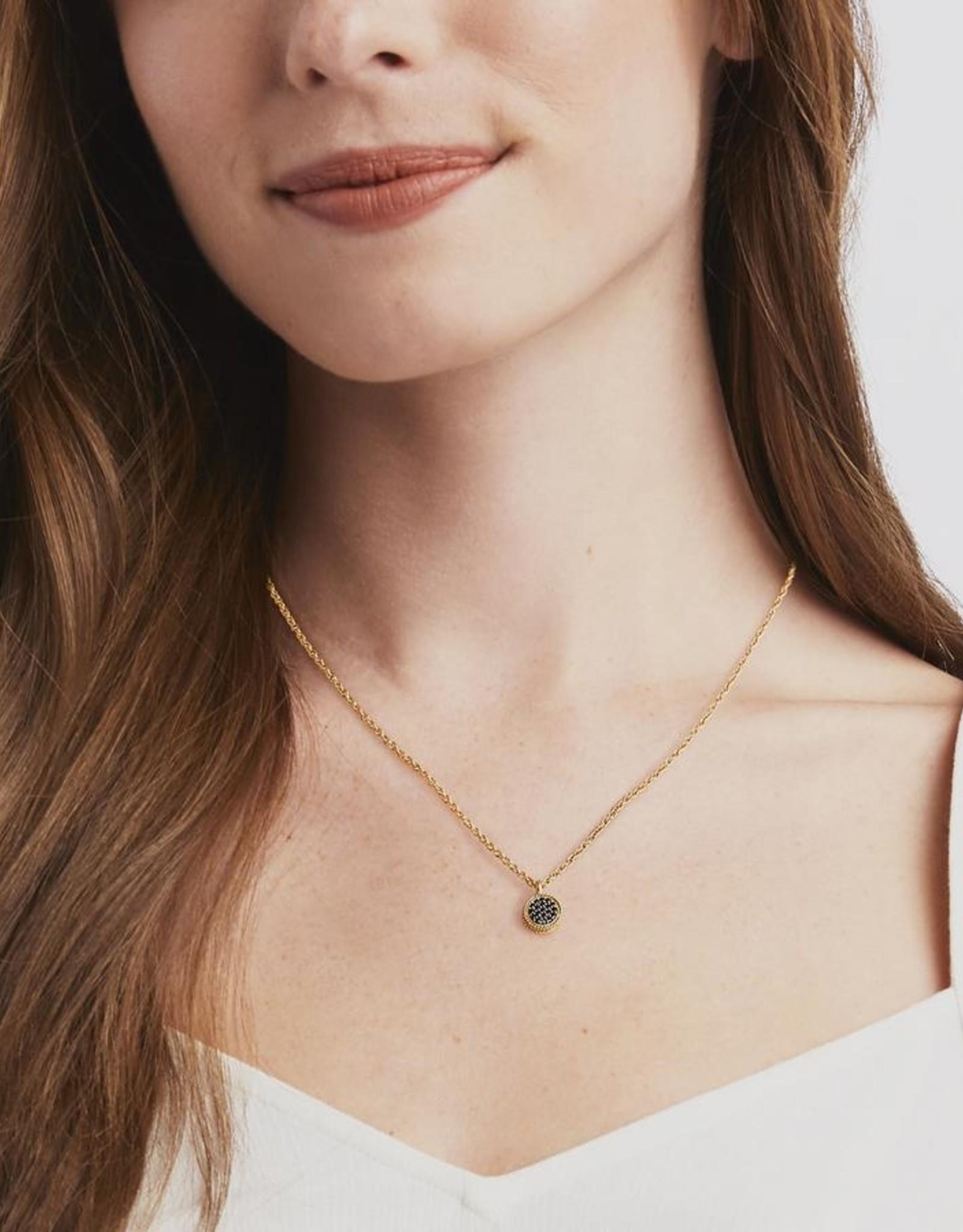 Julie Vos Julie Vos Windsor Delicate Necklace Crystal/Black