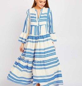 Sofia Barcelona Royal Blue Midi Dress O/S