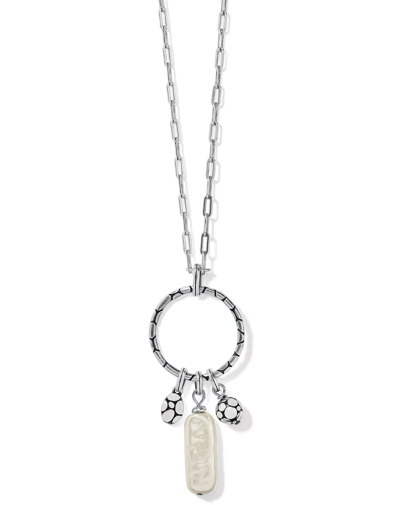 Brighton Brighton Pebble Pearl Charm Ring Necklace