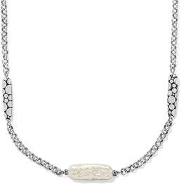 Brighton Brighton Pebble Pearl Double Link Necklace
