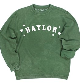 Kickoff Couture Baylor Trophy Corded Crew Pullover