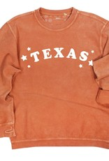 Kickoff Couture Texas Trophy Corded Crew Pullover