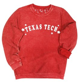 Kickoff Couture Texas Tech Trophy Corded Crew Pullover