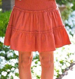 J. Marie J. Marie Autumn Burnt Orange Skort