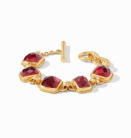 Julie Vos Julie Vos Savoy Demi Bracelet Ruby Red