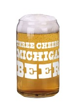 City Bird 3 Cheers for Michigan Can Glass
