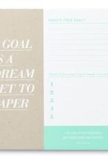 Compendium Compendium A Goal is a Dream Desk Pad