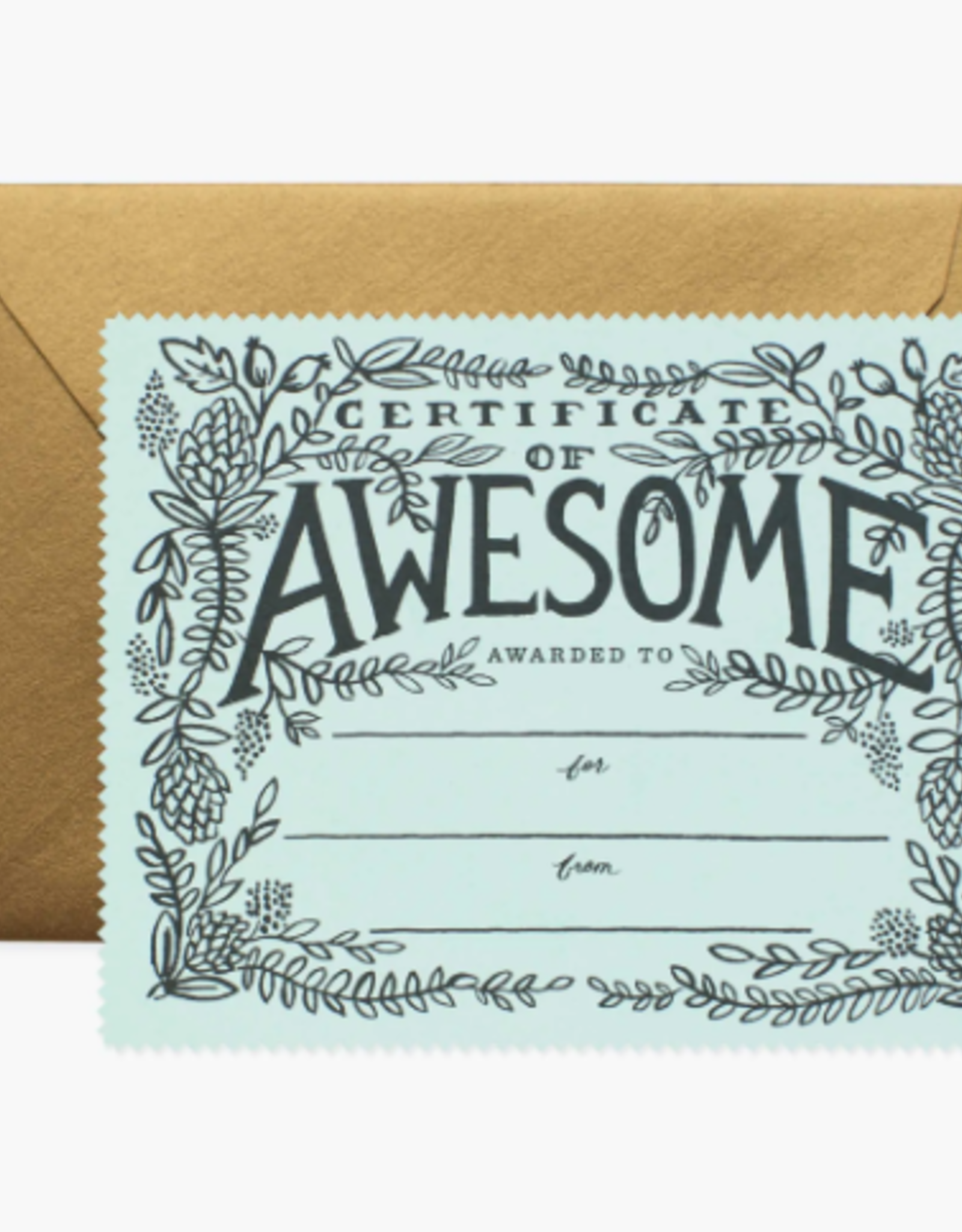 Rifle Paper Co. RPC GC   Certificate of Awesome Card