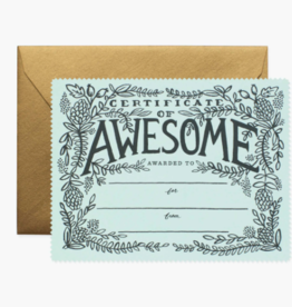 Rifle Paper Co. RPC GC | Certificate of Awesome Card