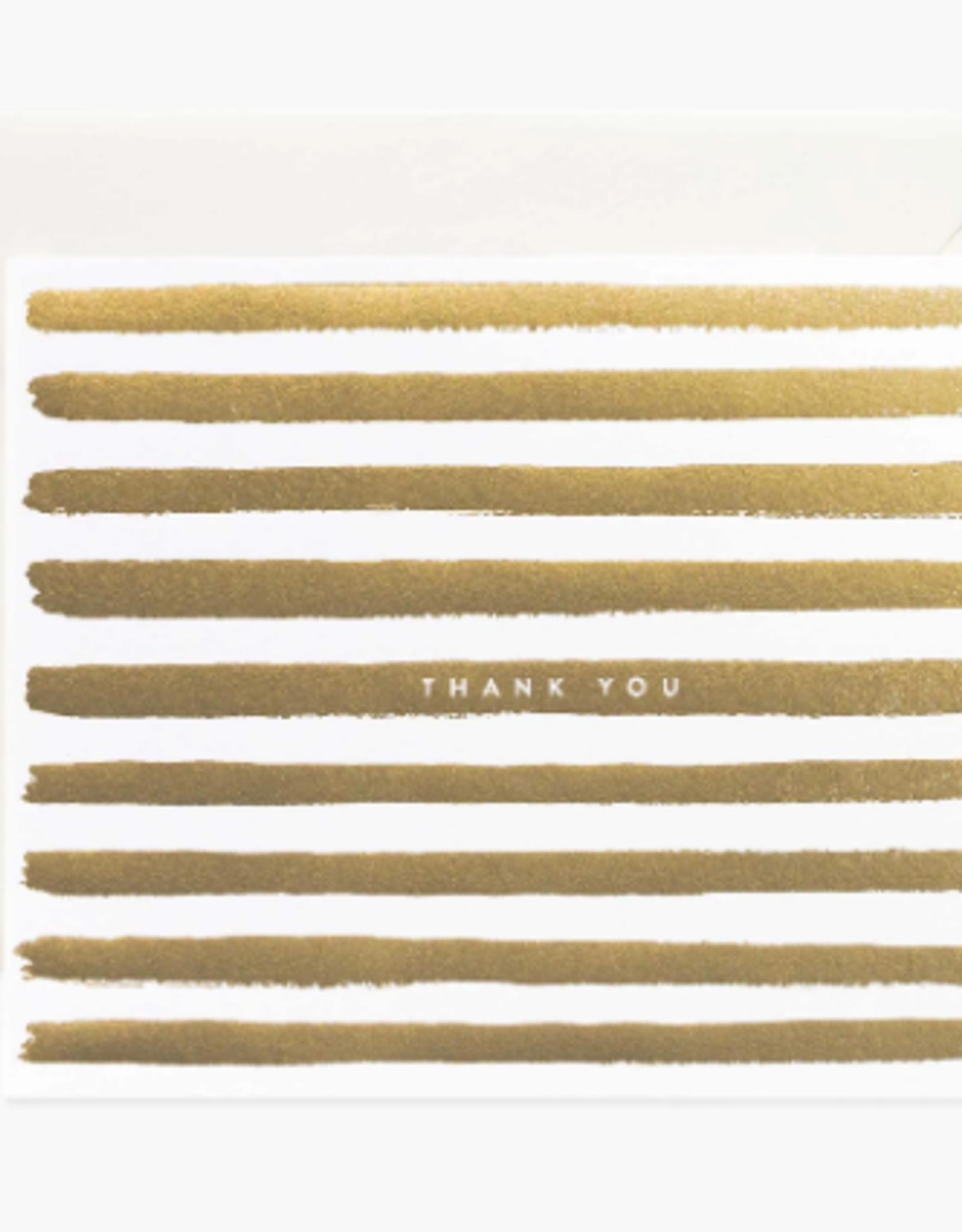 Rifle Paper Co. RPC GC | gold stripe thank you