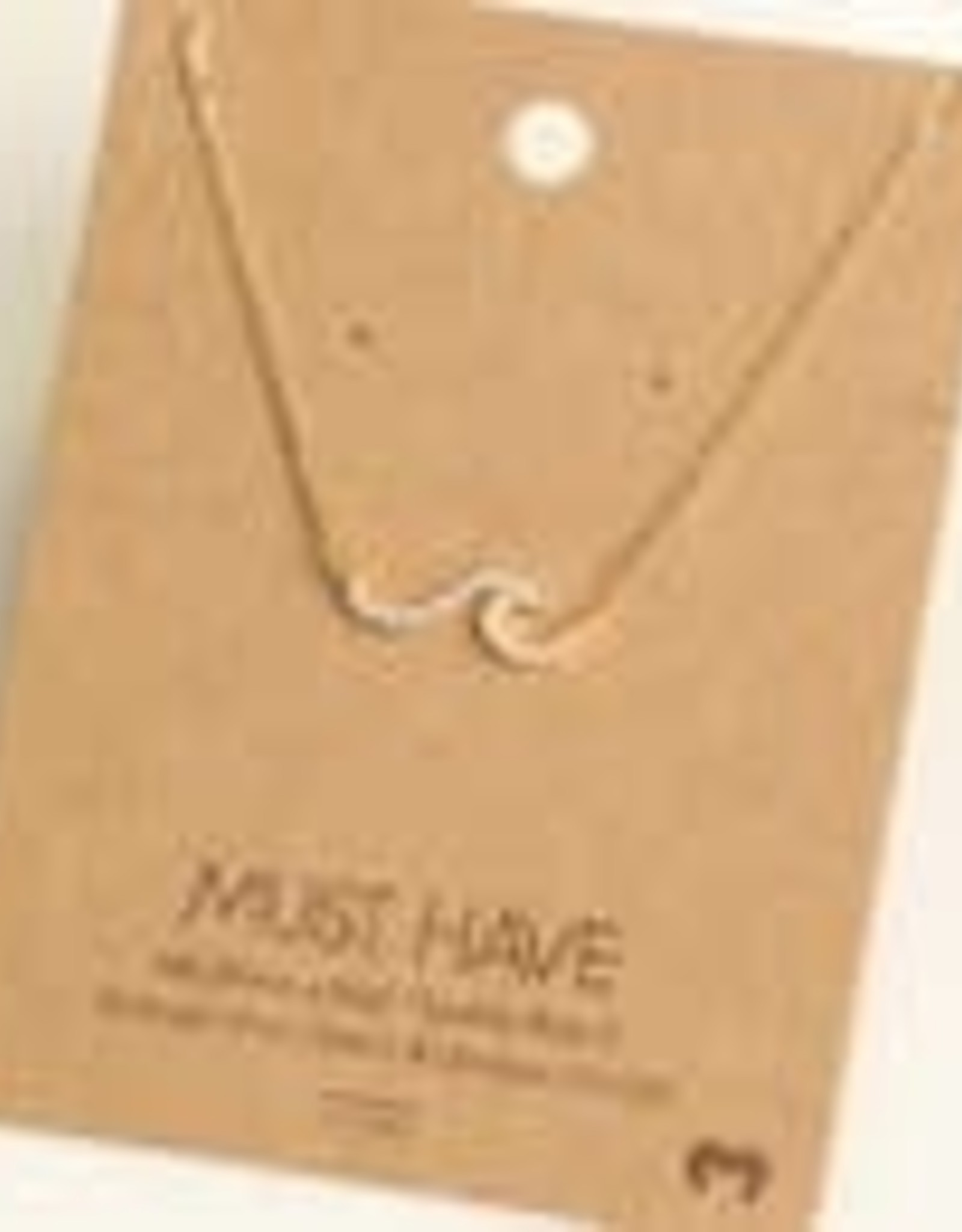 Wave Rhinestone Pendant Necklace