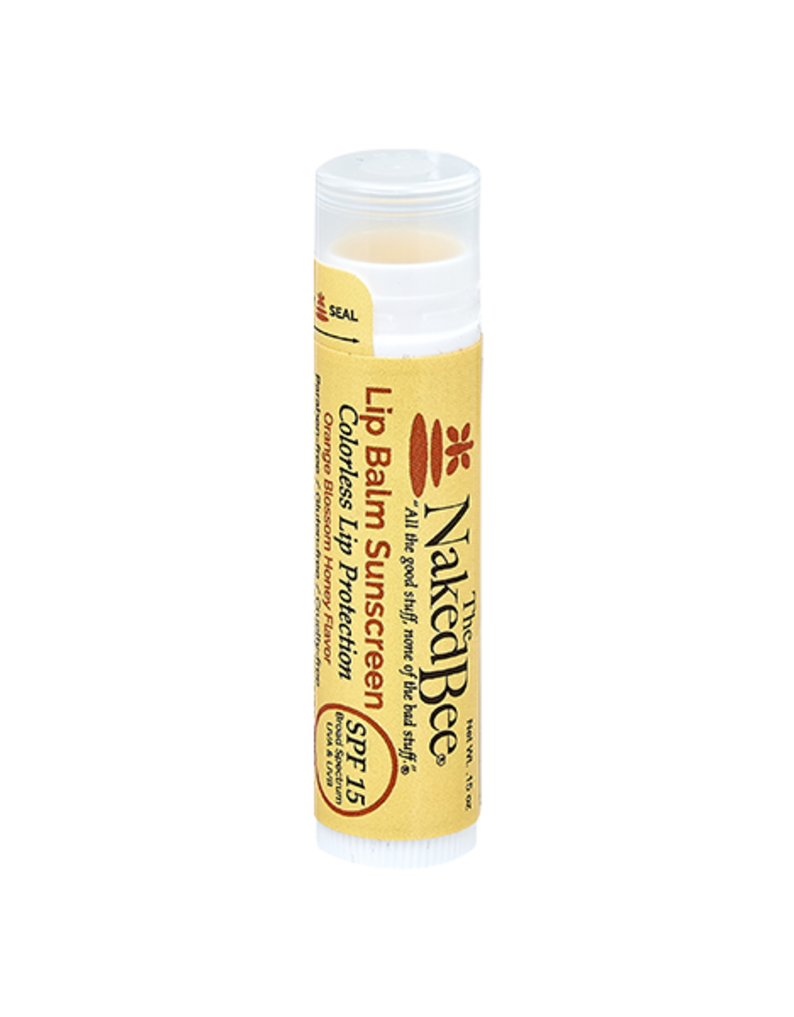 The Naked Bee | Colorless SPF 15 Lip Balm