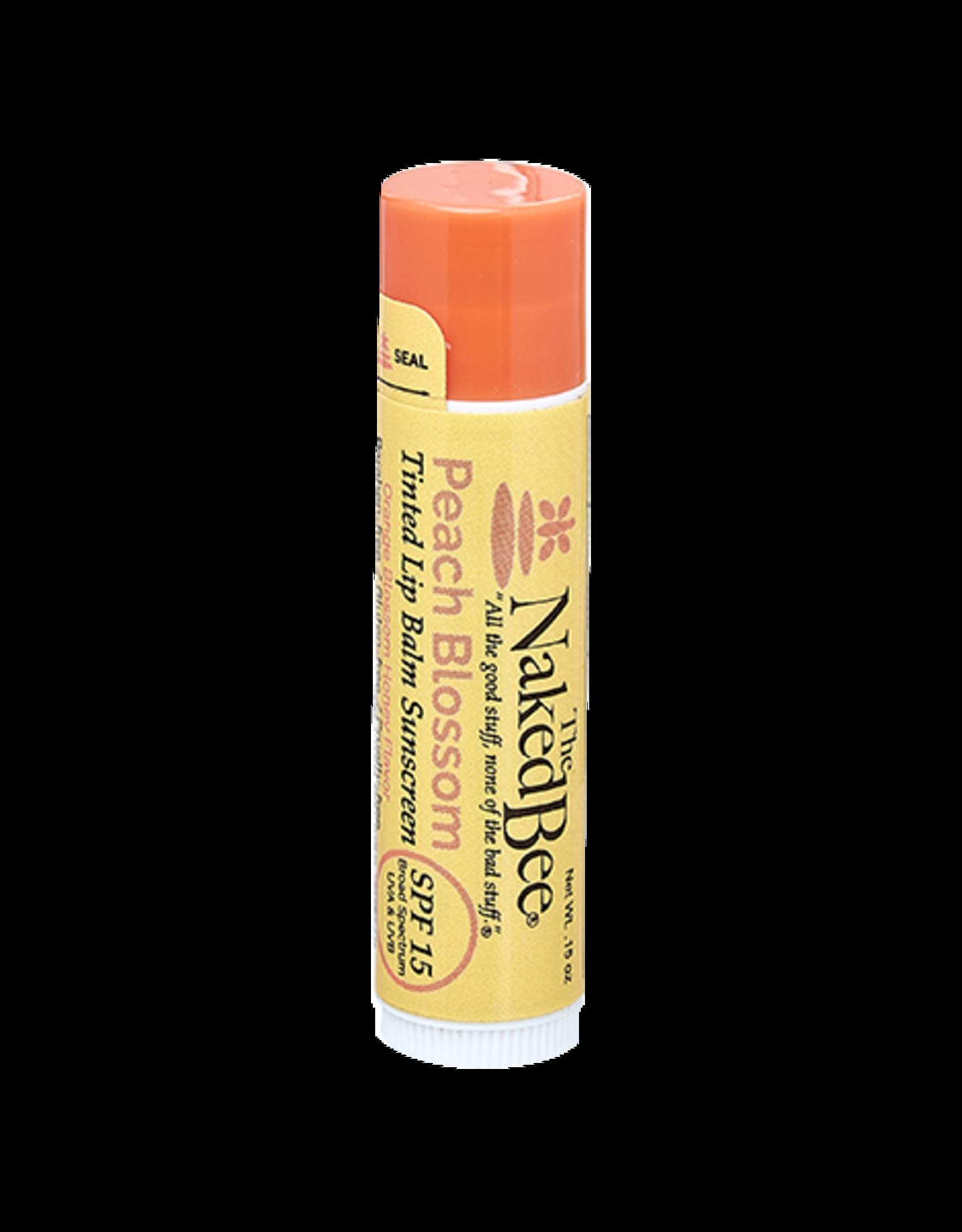 The Naked Bee The Naked Bee   Orange Blossom Honey Peach Blossom SPF Tinted Lip Balm