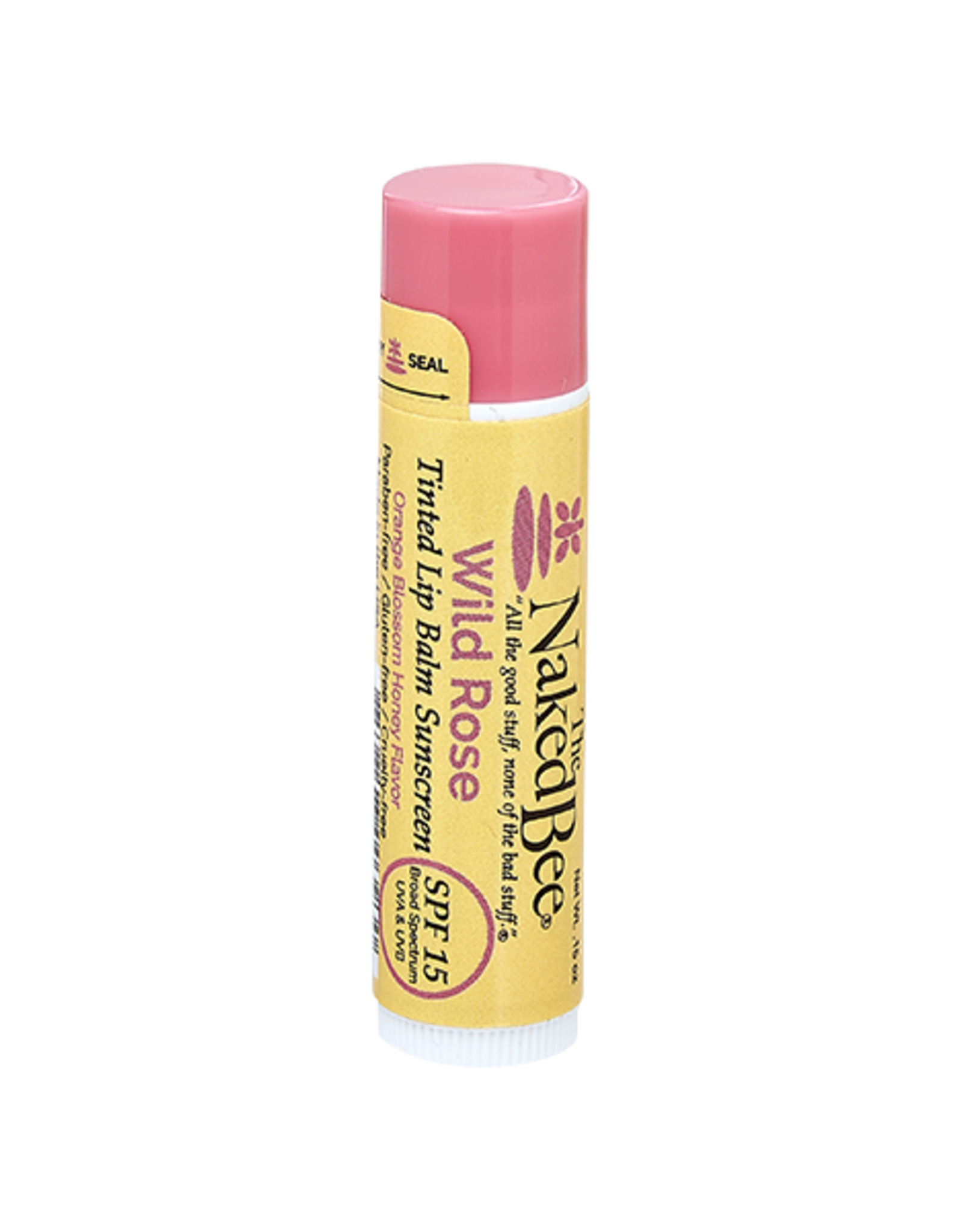 The Naked Bee The Naked Bee | Orange Blossom Honey Wild Rose SPF 15 Tinted Lip Balm