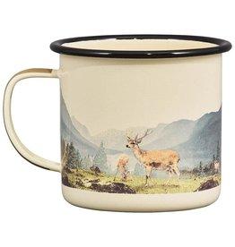 Great Outdoors Deer Enamel Mug