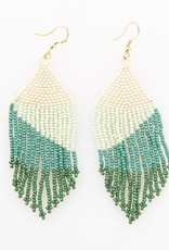 Ink+Alloy Ink + Alloy   Green Ombre FringeEarring