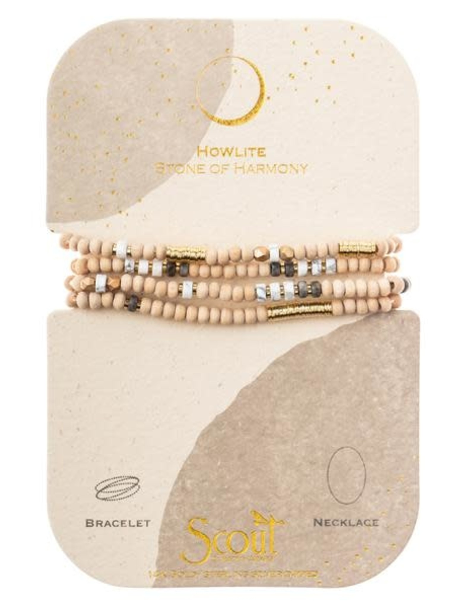 Scout Curated Wears Wood Stone & Metal Wrap | Howlite