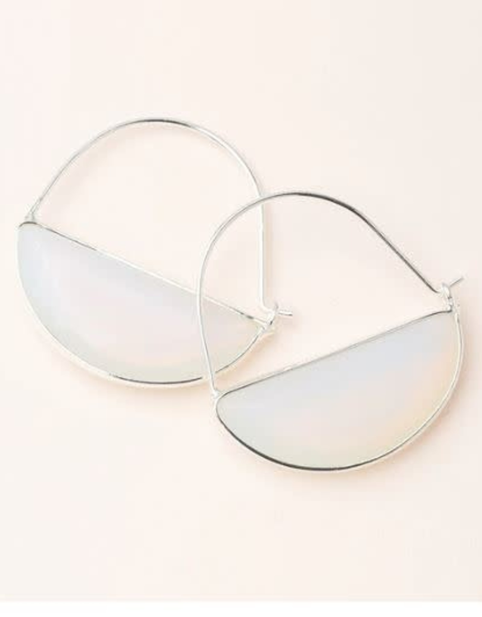 Scout Curated Wears Stone Prism Hoop - Opalite/Silver