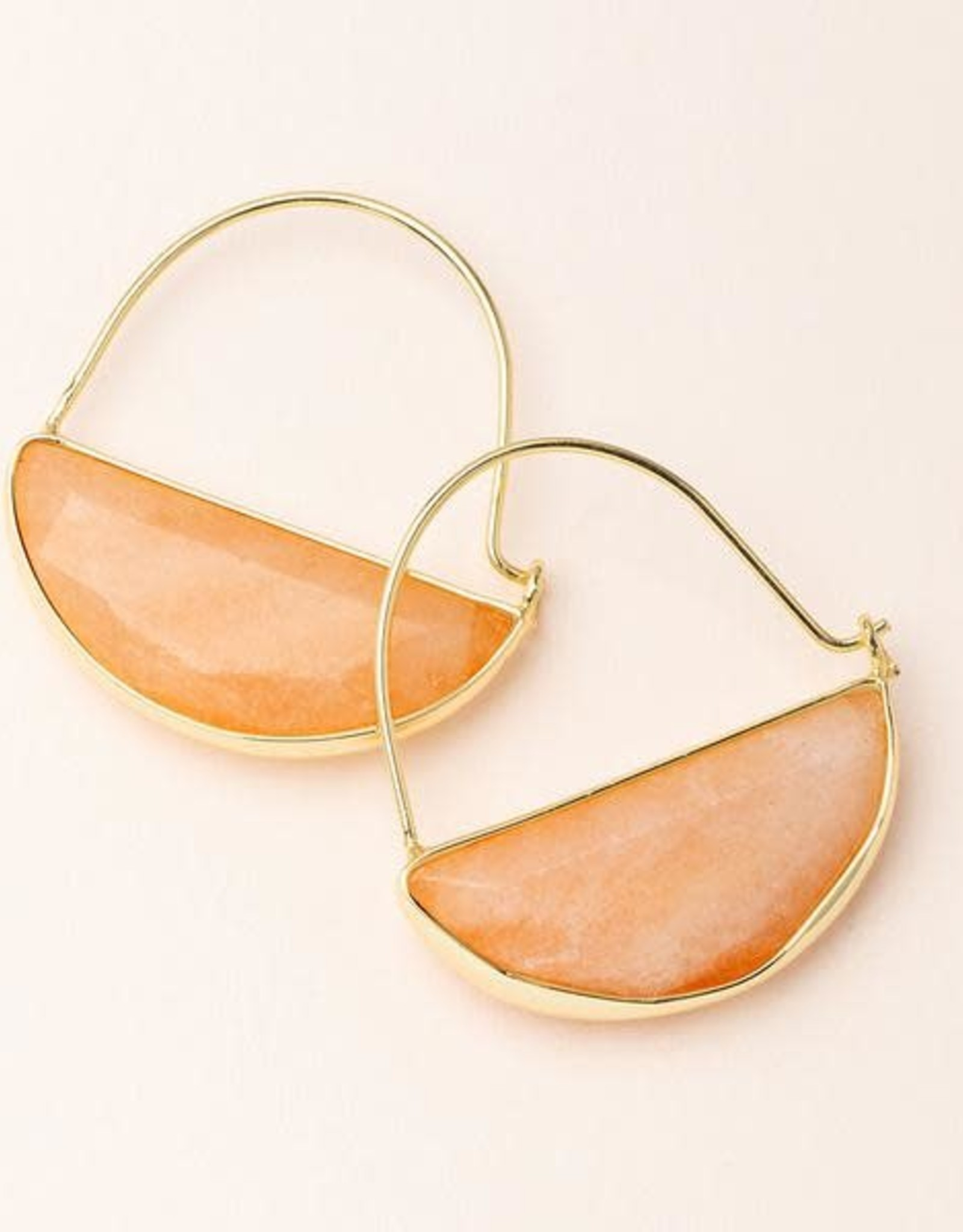 Scout Curated Wears Stone Prism Hoop - Sunstone/Gold