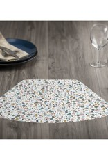 CounterArt Blue Terrazzo-Wedge Placemats