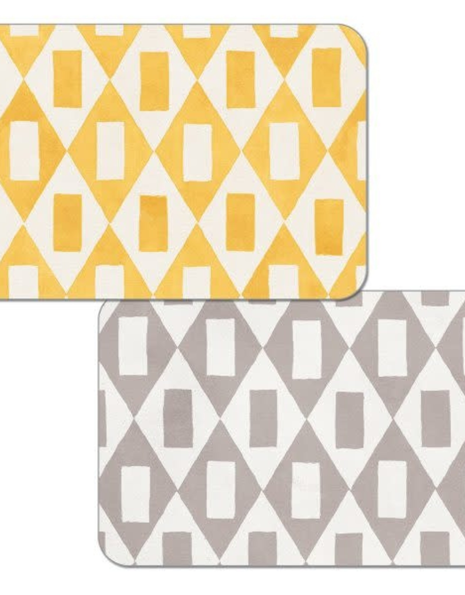 CounterArt Placemat Geo Grey/Yellow