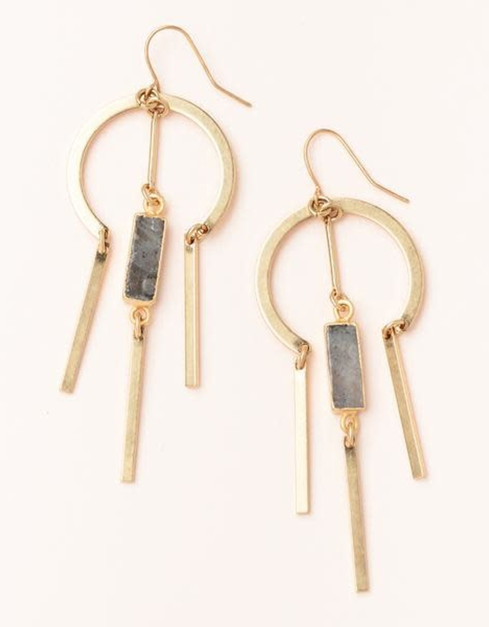 Scout Curated Wears Scout   Dream Catcher Stone Earring - Labradorite/Gold